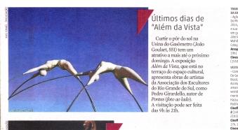 Jornal Zero Hora. Além da vista. 20/08/2014