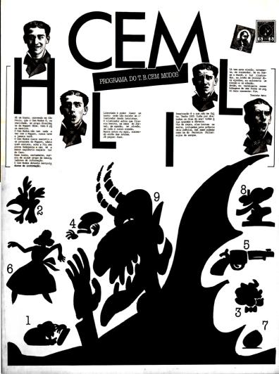 Programa da peça Teatro de Bonecos Cem Modos - 1984