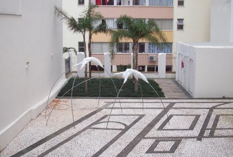 Pontes no Jardim da Pinacoteca Rubem Berta em Poro Alegre
