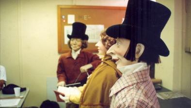 Banda de manequins com movimentos eletromecânicos - Vitrine Natal Mesbla 1994