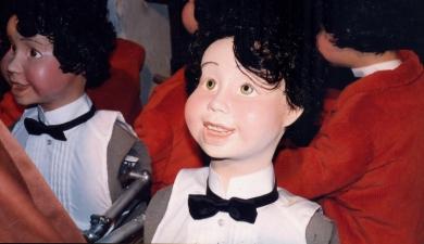 Manequim menino com movimentos eletromecânicos - Vitrine Natal Mesbla 1994