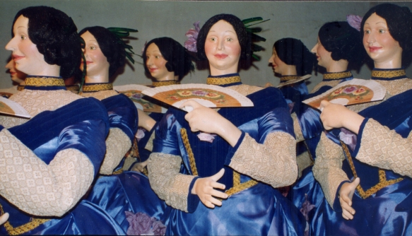 Manequins mulheres com movimentos eletromecânicos - Vitrine Natal Mesbla 1994