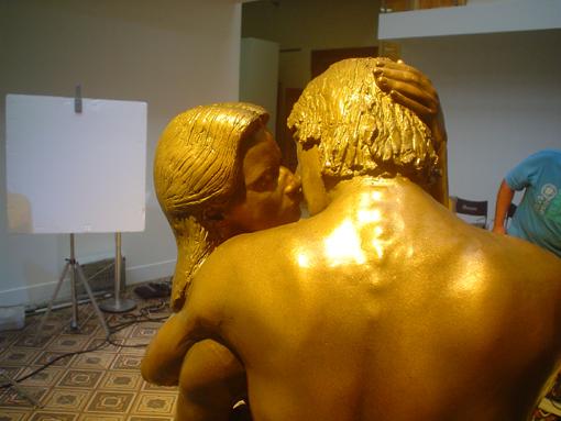 """Detalhe da escultura """"O Beijo"""""""