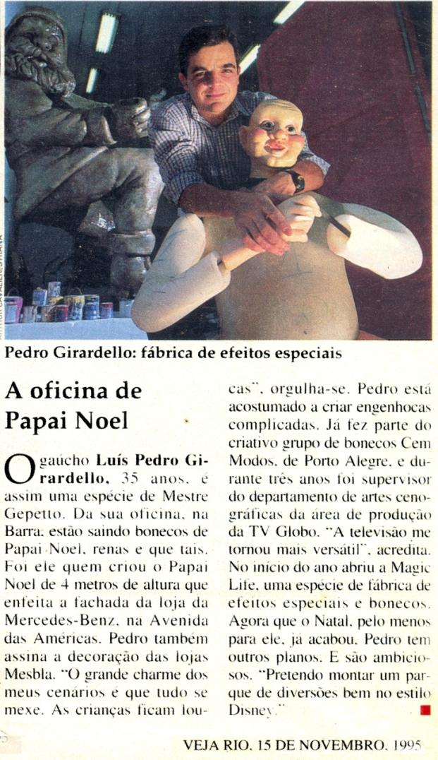 Matéria sobre a Magic Life - Veja Rio - 1995