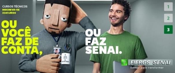 """Boneco """"Técnico"""" para comercial FIERGS/ SENAI-RS , cursos técnicos - 2015"""