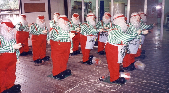 Papais Noeis eletromecânicos - Natal Mesbla 95