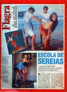 Reportagem sobre as sereias na Revista Contigo - 1990