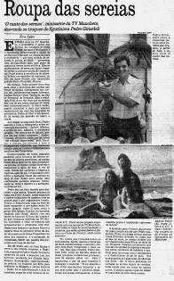 Reportagem sobre as sereias no Jornal do Brasil - 1990