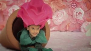 Fantasias de flores para comercial Bourbon Shopping - dia das Mães 2013 - Rosa