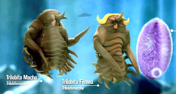 """Fantasia de Trilobitas para quadro no Programa Fantástico : """"Amor e Ciência"""""""